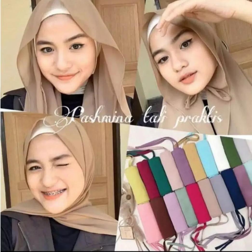 Hijab Pasmina Tali Pashmina 175cm X 75cm Tali Jilbab Tali Bahan Diamond Cod Fp Lazada Indonesia