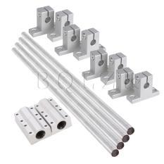 ... 1 6x Linear Ball Bearing Rail Guide Support 30cm Shaft Optical Axis0 8cm Dia