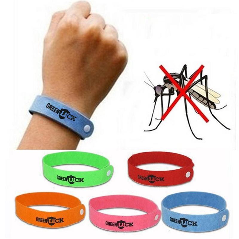 10 buah berguna anti grosir gelang pengusir nyamuk Band pergelangantangan acak - ?