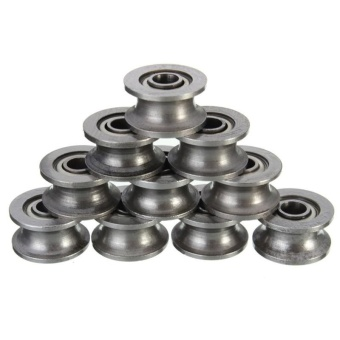 V Groove Ball Bearing Pulley Miniature Deep Groove Bearings Shielded Shafts. Source .