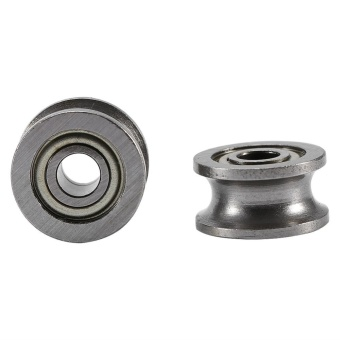 ... 10pcs U624ZZ U Groove Ball Bearing Guide Pulley For Rail Track Linear Motion System 4*