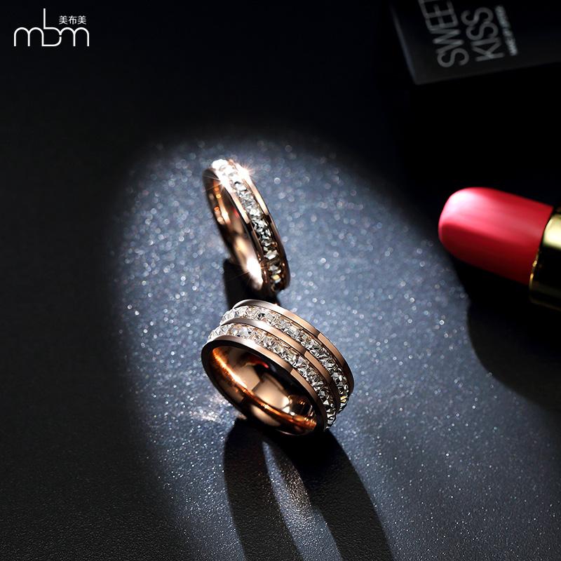 18 k Korea Fashion Style naik berlapis emas ganda jari telunjuk cincin