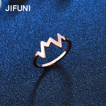 Review of 18 k Korea Fashion Style Nigeria titanium baja berlapis emas cincin gelombang radio shock