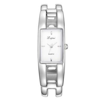 1pc Mens Simple Sophisticated Square Dial Business Quartz Watch(White) - intl