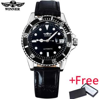... Jam Tangan. Source · 2016 WINNER popular brand men luxury automatic self wind watches creative case black dial transparent glass