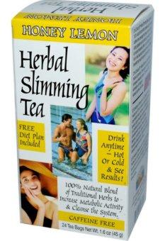 21st Century Health Care, Herbal Slimming Tea, Honey-Lemon,Caffeine Free