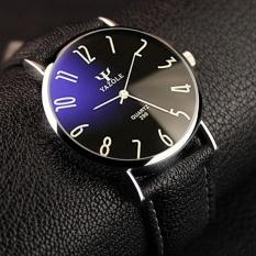 299 Wrist Watch Pria 2016 Top Merek Mewah Terkenal Male Jam Quartz Tangan Golden Arloji Kuarsa-Arloji Hitam Hitam YAZOLE