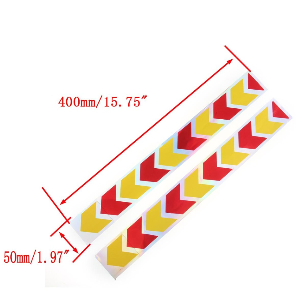 2x Red Yellow Arrow Truck Auto Body Reflector Sticker Wear Prooftape Kanan Beat Fi Cbs 871x0k25910zcr 40cm