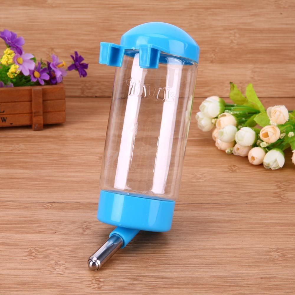 300ML Pet Drinking Hanging Water Bottles Pet Portable Drinker Bottle(Blue) - intl