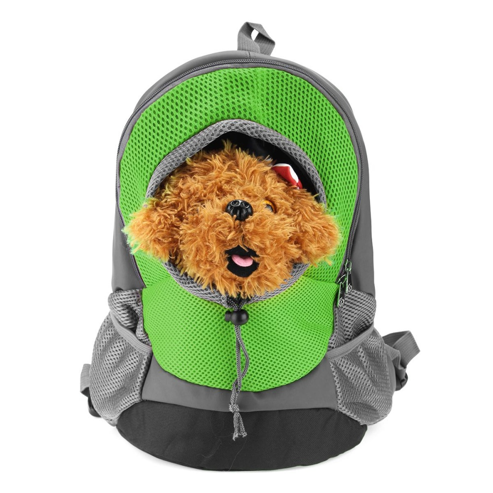 35*30*14 cm Portable Pet Dog Cat Puppy Head Out Carrier Comfort Travel Backpack Green - intl