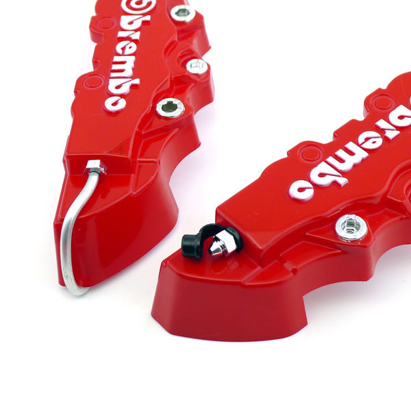 4 buah baru 3D Merah Brembo universal Gaya rem cakram kaliper depandan belakang .