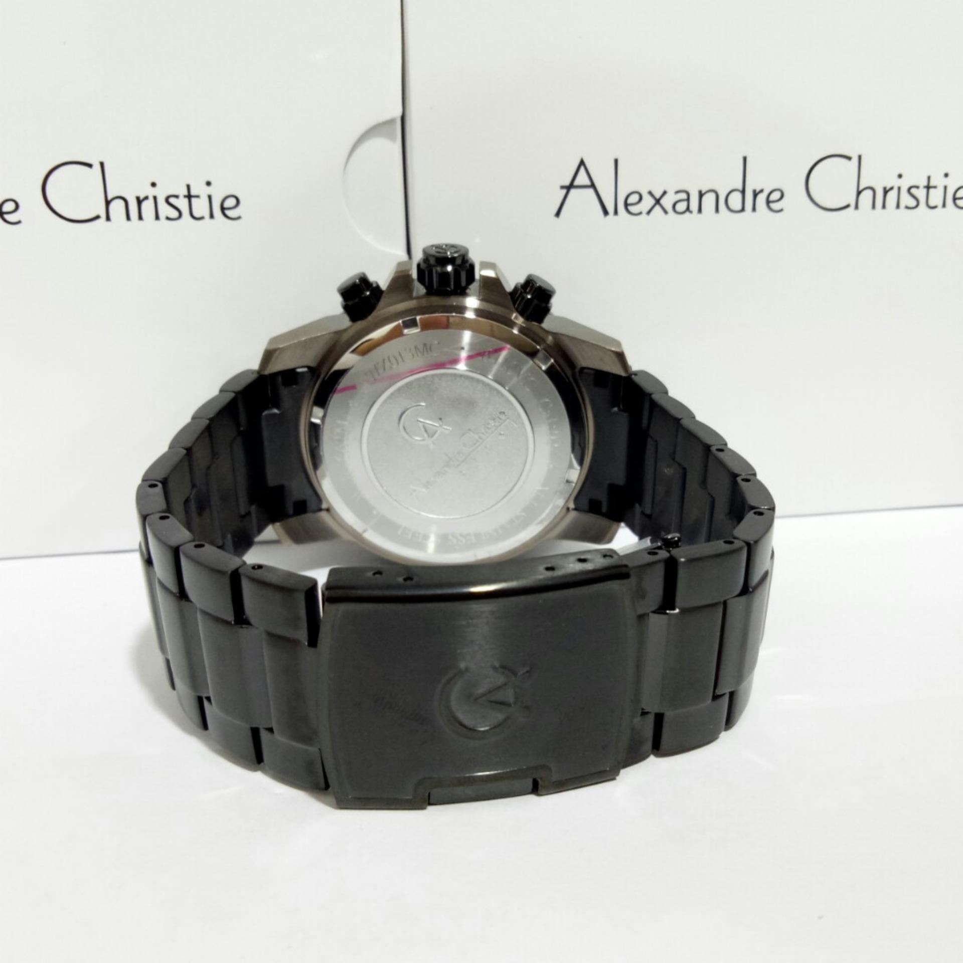 Alexandre Christie 6410 Jam Tangan Pria Full Black Yellow Daftar Ac 6444 Mc Silver Cream Mcbzbba