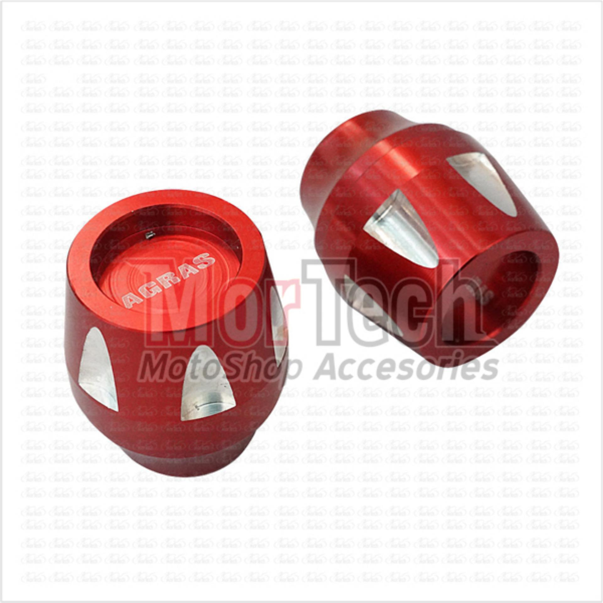 Cheap online Agras New Cover - Tutup - Jalu - Bandul as roda Depan CNC CBR 150Merah