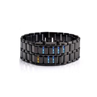 Harga Saya Aidis Fashion Creative Lovers' Wristwatch Men Women Steel blue Binary Luminous LED Electronic Sport Smart Men Watches Black - intl Cari ...