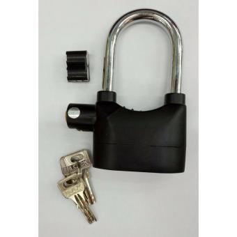 Alarm Lock Gembok Motor Suara Anti Maling Super Kuat / Lock SirenRing Panjang - Black