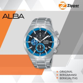 Alba Active Chronograph Jam Tangan Pria - Tali Stainless Steel - AM3301X1