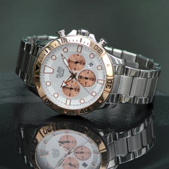 Alba Active Chronograph Jam Tangan Pria - Tali Stainless Steel - AT3A08X1 - 5