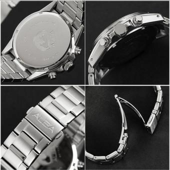 Alba Analog Jam Tangan Pria - Strap Stainless Steel - Silver Gold - AT2052 - 2