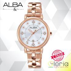 Alba Fashion Jam Tangan Wanita - Tali Stainless Steel - Rose Gold - AH7L52X1