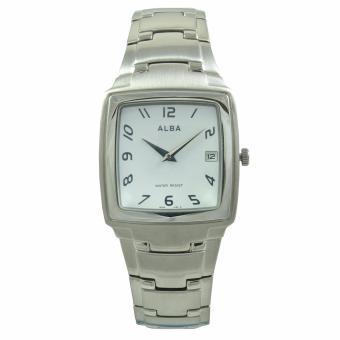 ALBA Jam Tangan Pria - Silver White - Stainless Steel - AVKA63