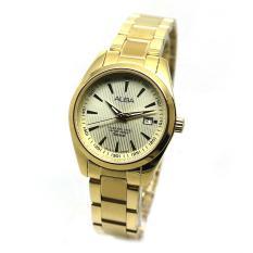 Alba - Jam Tangan Wanita - Gold-Gold - Stainless Steel - AH7A22X1