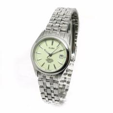 Alba - Jam Tangan Wanita - Silver-Cream - Stainless Steel - AXT861X1