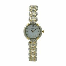 ALBA Jam Tangan Wanita - Silver Gold White - Stainless Steel - ATQN04