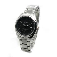 Alba - Jam Tangan Wanita - Silver-Hitam - Stainless Steel - AH7A25X1