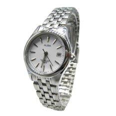 Alba - Jam Tangan Wanita - Silver-Putih - Stainless Steel - AXT857X1