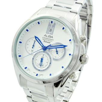 Alba Prestige Chronograph Jam Tangan - Tali Stainless Steel - Silver - AT3A97X1 - 2