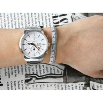 Alba Signa Chronograph Jam Tangan - Stap Stainless Steel - Silver - AF8S31X1 - 4