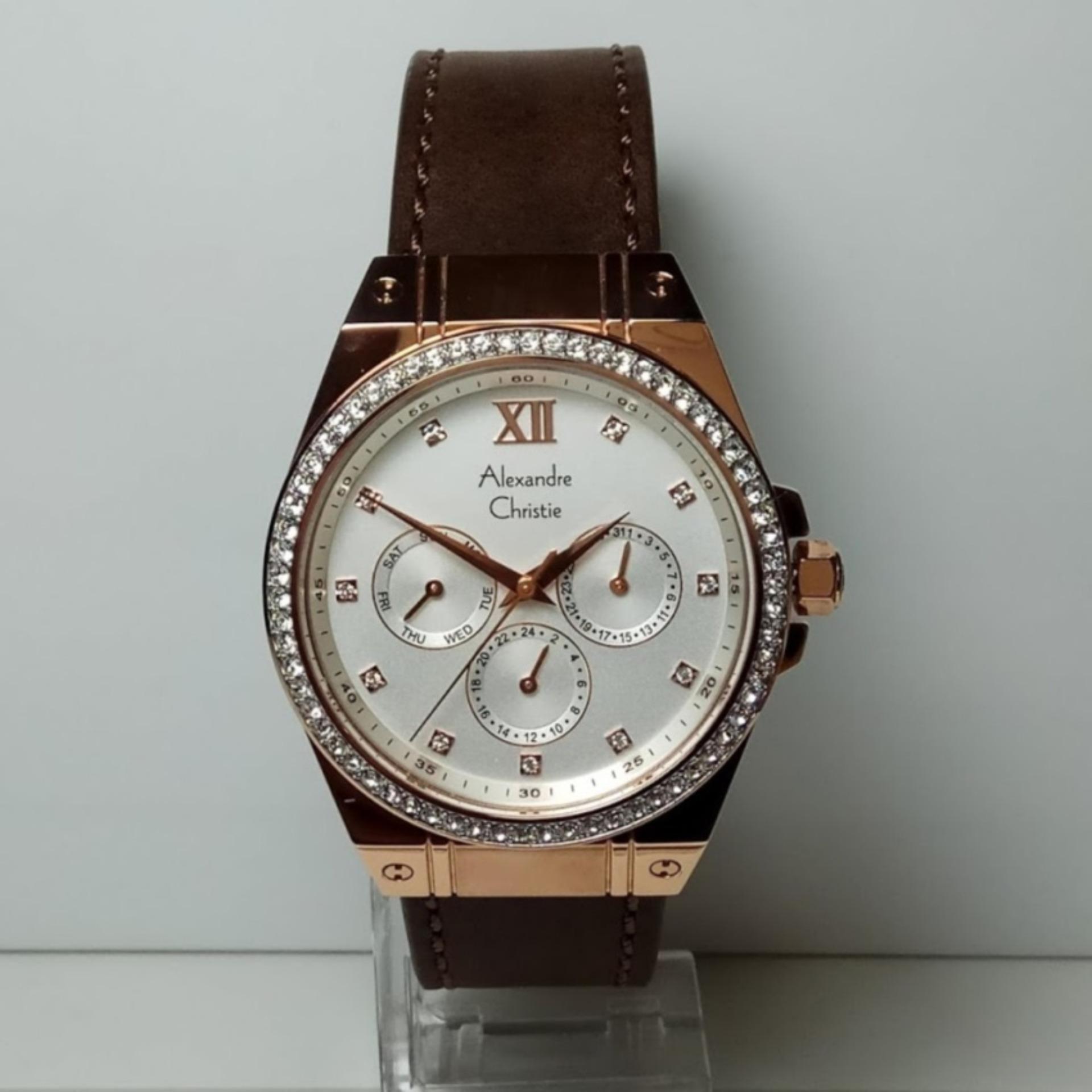 Cari Bandingkan Alexandre Christie Ac 2662 Bf Jam Tangan Wanita 6410mc Silver Stainless Steel Leather Brown