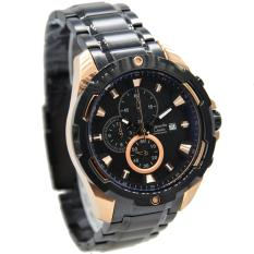 Alexandre Christie AC-6305MB Strap Stainless Steel Black Rose Gold