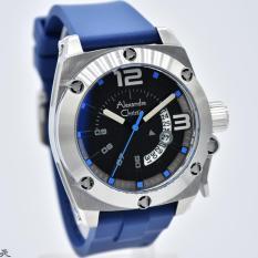 Alexandre Christie AC-6456MS Rubber Strap Blue Silver