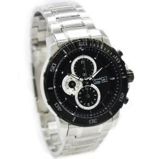 Alexandre Christie AC-6473MC Strap Stainless Steel Silver Black