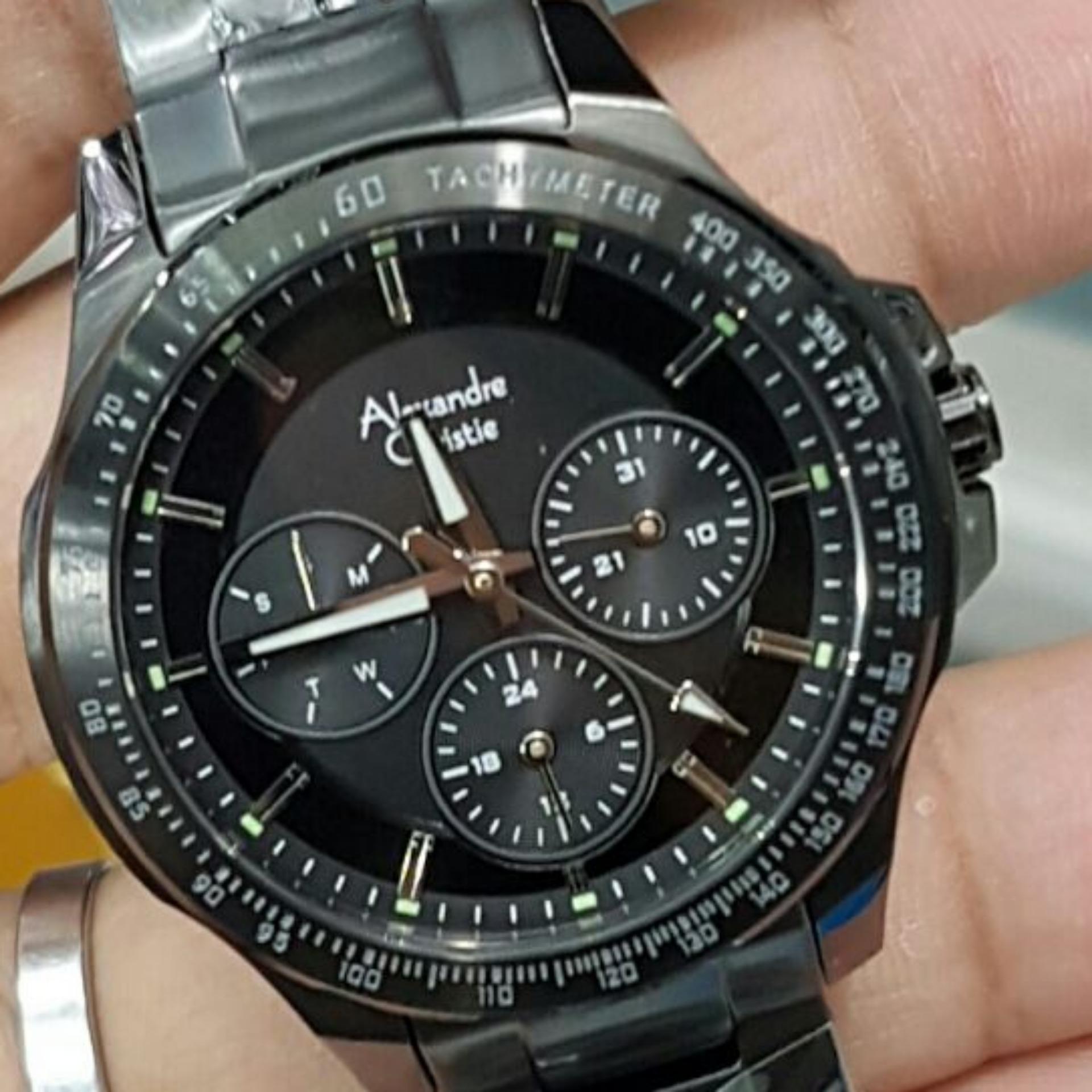 Alexandre Christie Collection 6195mcltbba Jam Tangan Pria5 Daftar 1430690 Chronograph Tali Rantai Pria Silver Ac6352 Wanita Stainless Steel