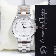Alexandre Christie AC8505L Jam Tangan Wanita Stainless Steel Silver Lis Gold