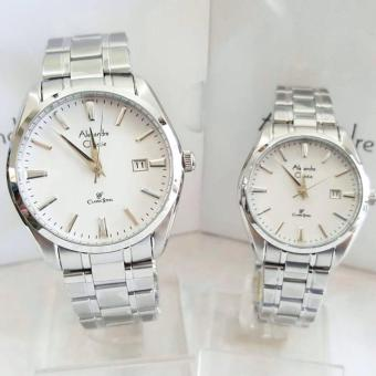 Alexandre Christie AC8515 Jam Tangan Couple Stainless Steel Silver
