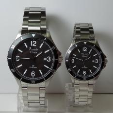 Rp 1282500 Alexandre Christie Jam Tangan Couple AC5011MD LD Classic Silver Stainless Steel Dial BlackIDR1282500