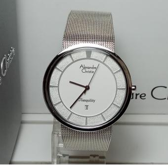 Alexandre Christie Jam Tangan Pria Alexandre Christie AC8334MD Tranquility Silver Stainless Steel