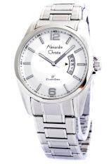 Alexandre Christie - Jam Tangan Pria - Stainless Steel - Full White - 8289 FP