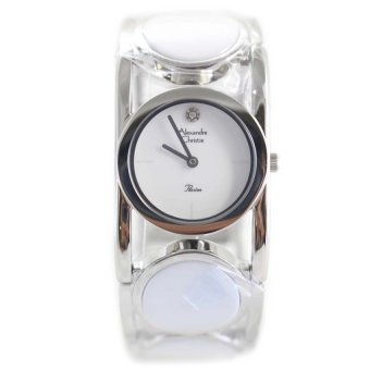 Flash Sale Alexandre Christie Jam Tangan Wanita - 2260 LHBSSSL - Silver White - Ceramic Terbaik