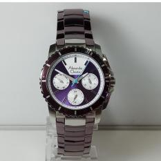 Alexandre Christie Jam Tangan Wanita Alexandre Christie AC6455BF Multifunction Silver Purple Stainless Steel