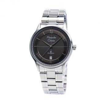 Alexandre Christie Pria 8505 - Jam Tangan Pria - Black- Stainless Steel