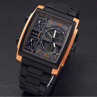 Alfa Four Time - Jam Tanga Pria - Black - ALFA Tristan - AL6070-HS