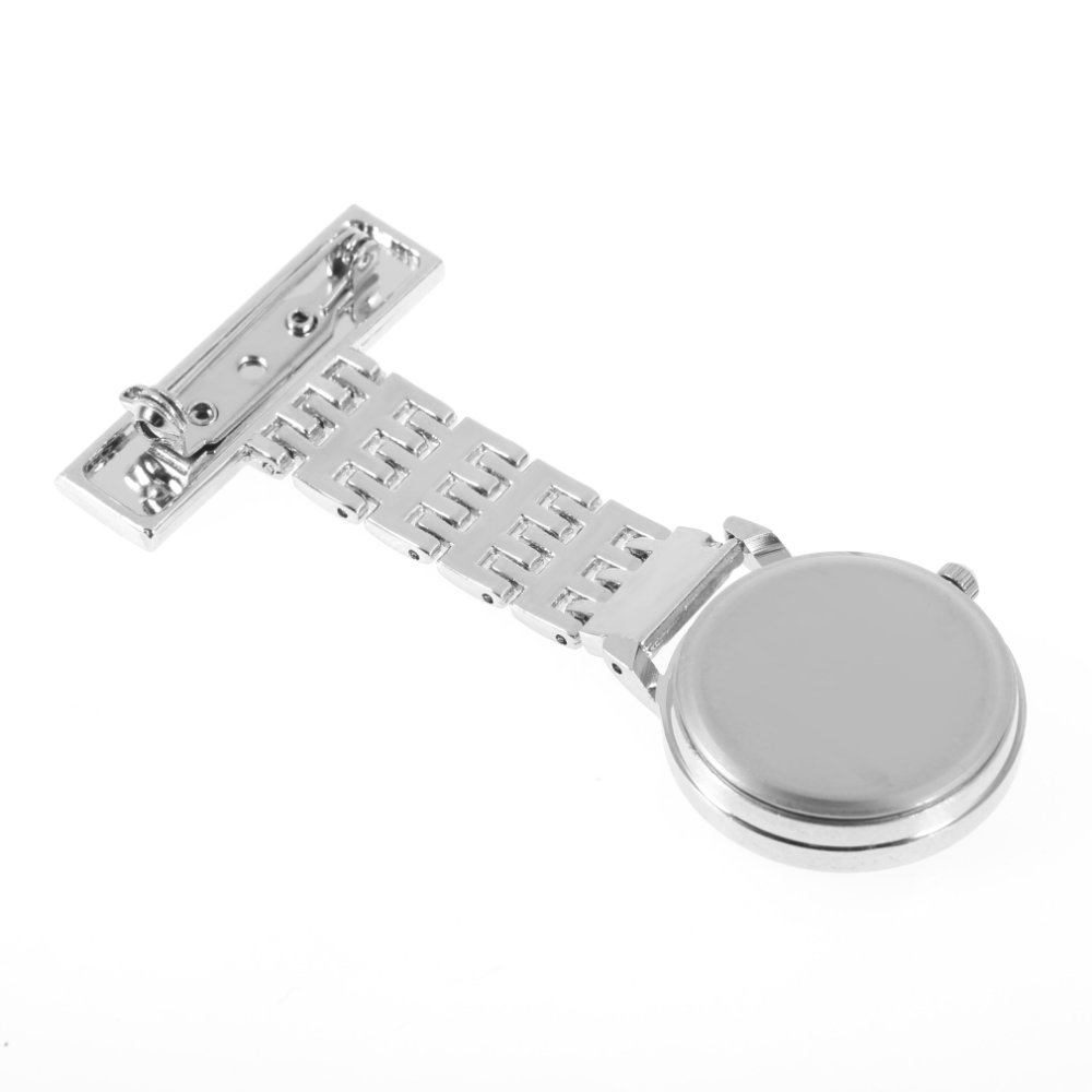 Berlian Buatan Square Dial Stainless Steel Perhiasan Bros Baju Dagu Liontin Swa Rivoly Allwin Angka Arab Kuarsa Jam Saku Perawat Dokter