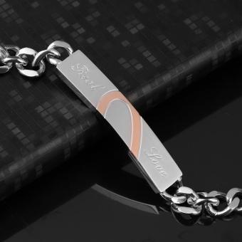 Allwin Baru gelang titanium stainless Steel untuk pasangan manset Bangle Bracelet - 3