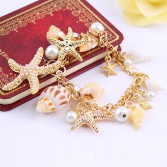harga Allwin Fashion Multi Bintang Laut Samudra Bintang Laut Pantai Rantai Gelang Kulit Kerang Mutiara Lazada.co.id