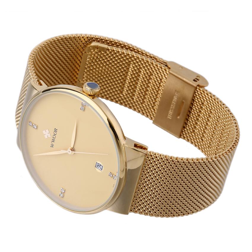 Allwin WWOOR untuk pria mewah jam kaca kuarsa sangat tipis tanggal untuk pria jam tangan untuk olahraga 8018 - Internasional