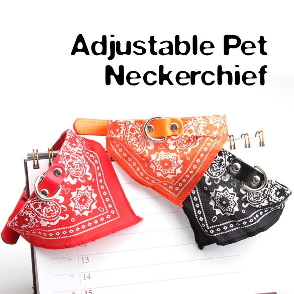 Amart Medium Adjustable Pet Dog Cat Bandana Collar Scarf(RandomColor) - intl